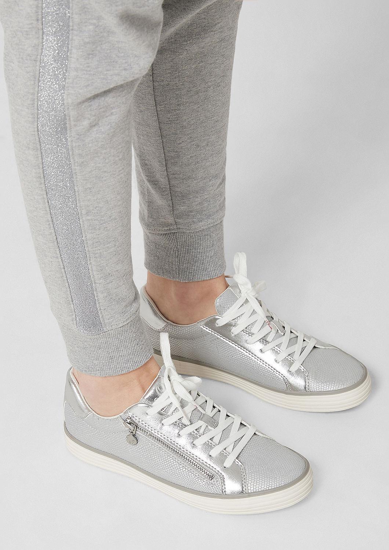 s.Oliver - Sneaker mit Deko-Zipper - 6