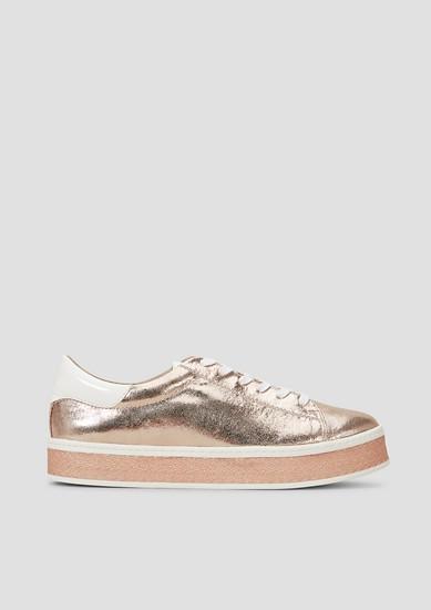 Plateau-Sneaker in Metallic