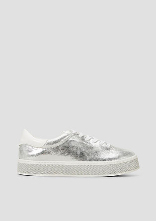Metallic plateausneakers
