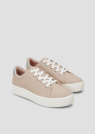 Sneakers met glittereffect