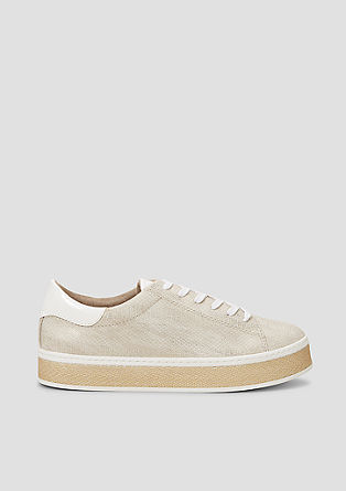 Plateau-Sneaker in Leder-Optik