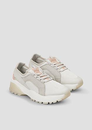 Chunky sneakers in een metallic look
