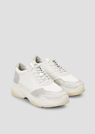 Chunky Sneaker mit Glitzer