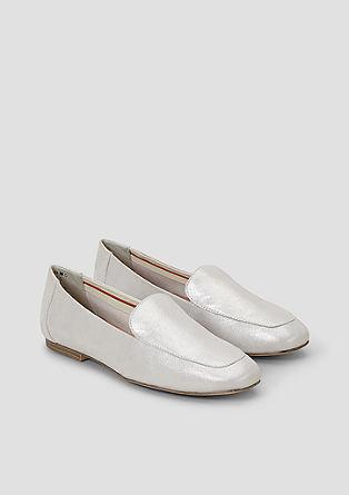 Klassische Leder-Slipper