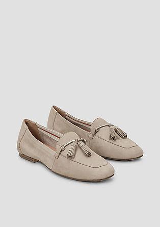 SO FLEX Leder-Loafer mit Quasten