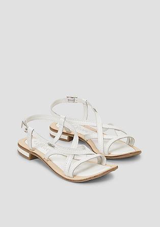 Sandalete z usnjenimi paščki