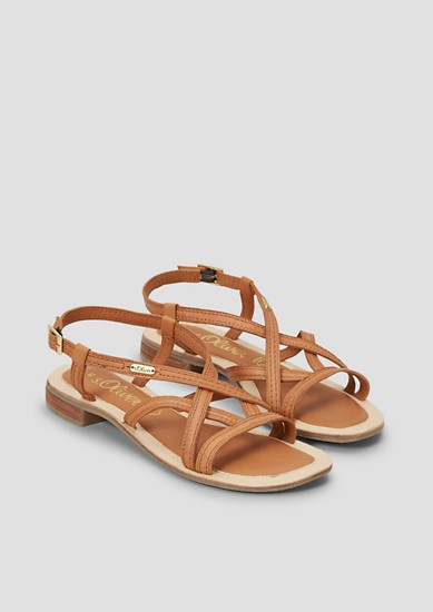 Sandalettenmit Lederriemchen