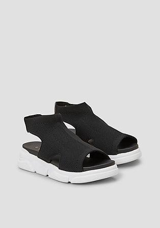 Sandalen aus Mesh-Textil