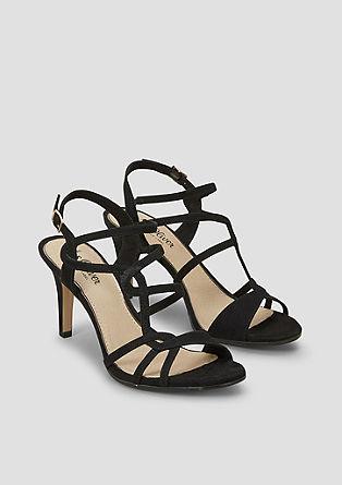 High heels van velours