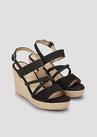 Čevlji s polno peto in prepletenim paščkom