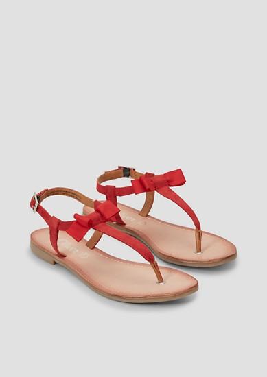 Zehentrenner-Sandalen mit Schleife