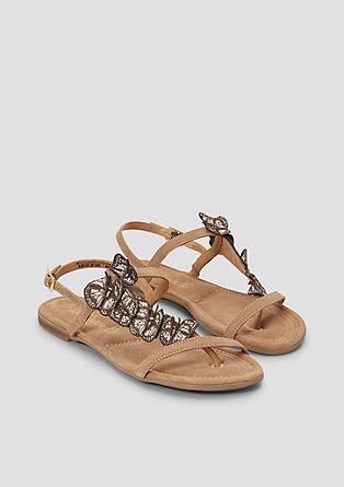 Sandalen met geappliqueerde vlinders