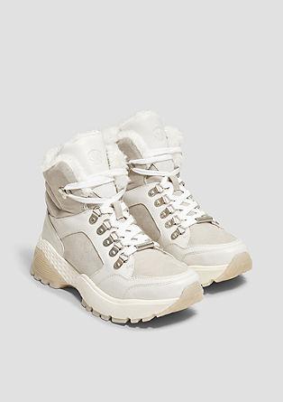 Chunky Boots mit Plüschfutter