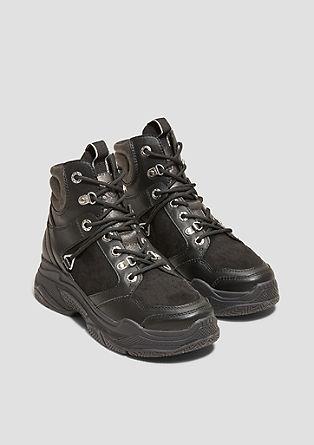 Robuuste high top sneakers met metallic details