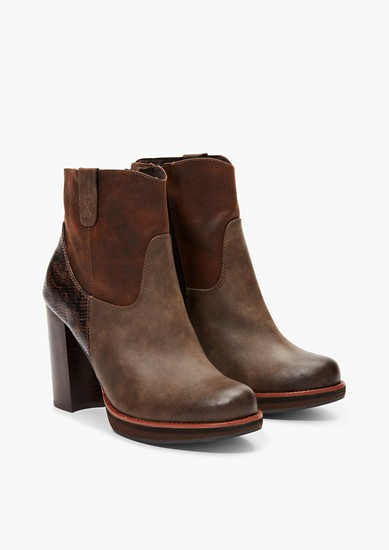 Ankle Boots im Fabric-Mix