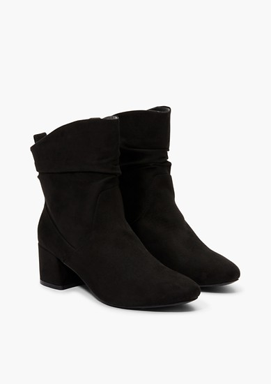 Ankle Boots aus Velours