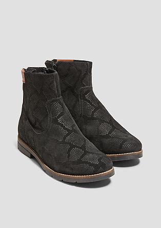 Boots en cuir à motif animalier de s.Oliver