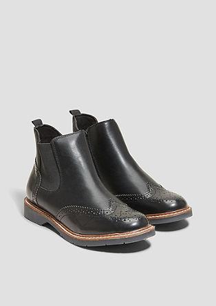 Imitatieleren boots in Chelsea-stijl