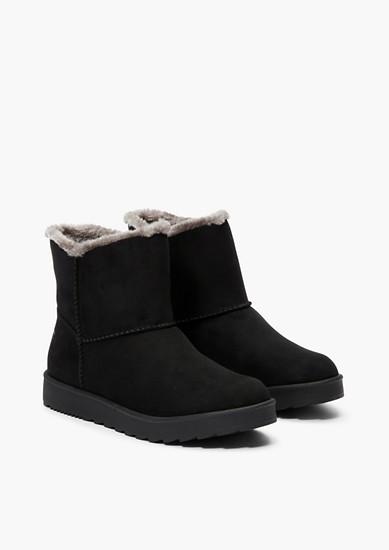 Warme laarzen met imitatiebont
