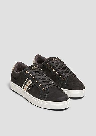 Sneakers en cuir à détails rivetés de s.Oliver