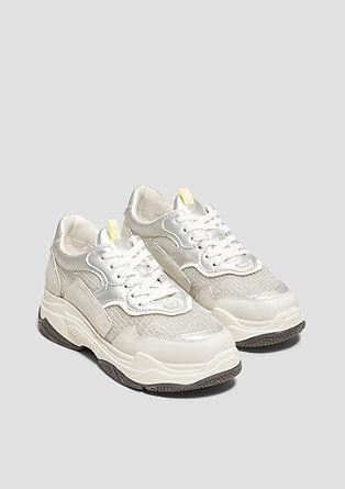 Robuuste sneakers in een metallic look
