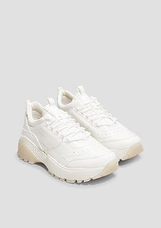 Chunky sneakers in een glanzende look