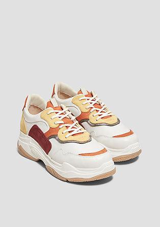 Robuuste sneakers met metallic detail