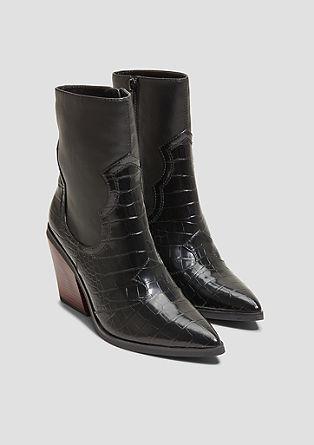 Cowboy-Boots im Reptilleder-Look