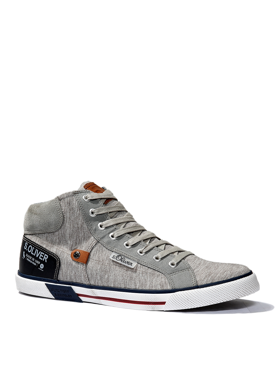 High-Sneaker | Schuhe > Sneaker > Sneaker high | Grau/schwarz | Obermaterial aus leder -  textil und synthetik| innenfutter aus textil und synthetik| laufsohle aus synthetik | s.Oliver