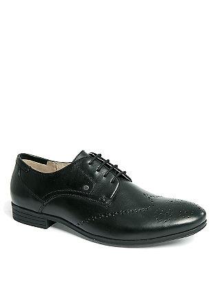 Nizki, elegantni čevlji Brogues iz pravega usnja