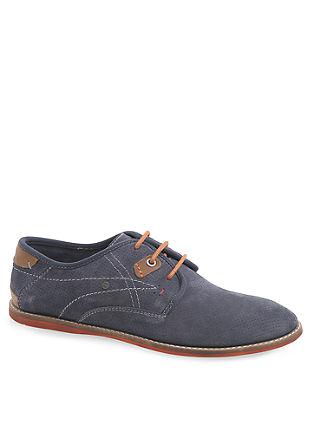 Čevlji iz luknjičastega velurnega usnja