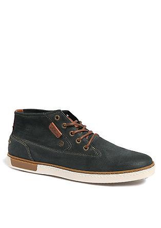 High-Sneaker aus Leder