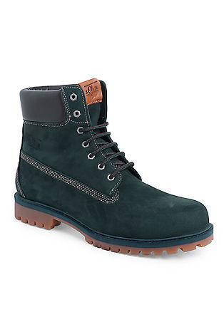 Markante Leder-Boots mit Gummisohle