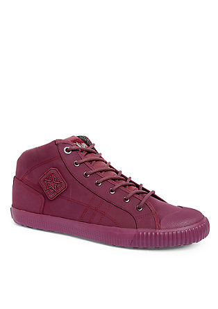 Gummierte High Sneaker