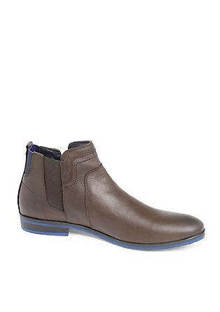 Elegantni nizki usnjeni škornji