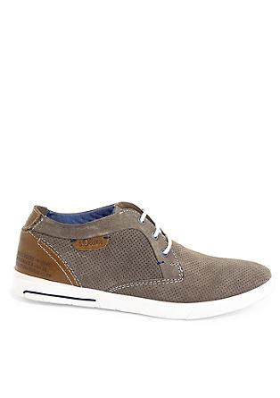 Leder-Sneaker im Segler-Look
