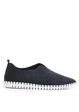 Slip-on-Sneaker aus Leder