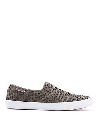 Slip-on Sneaker in Flecht-Optik