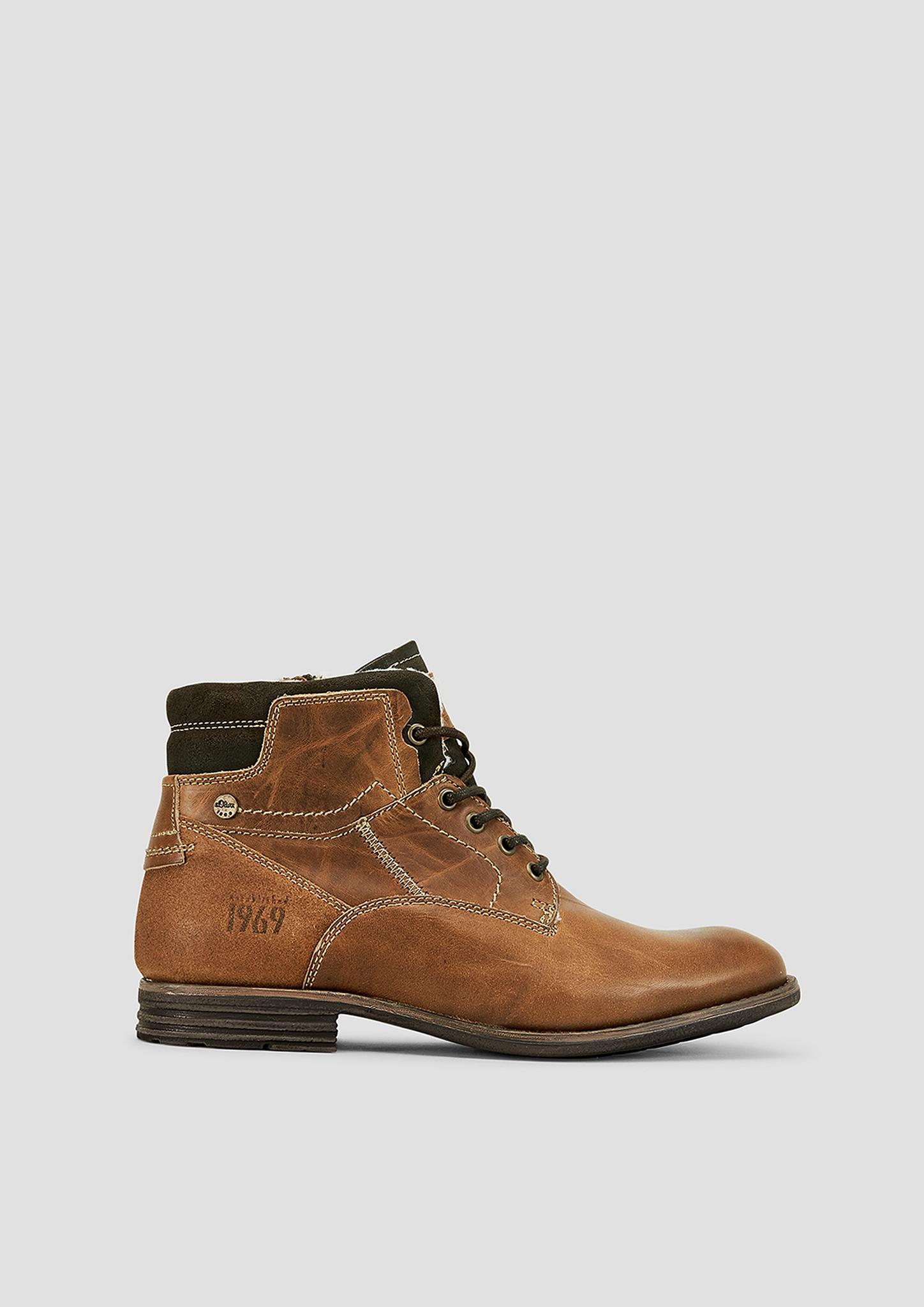 Boots | Schuhe > Boots > Boots | Braun | Obermaterial aus leder| futter aus textil| decksohle aus synthetik| laufsohle aus synthetik | s.Oliver