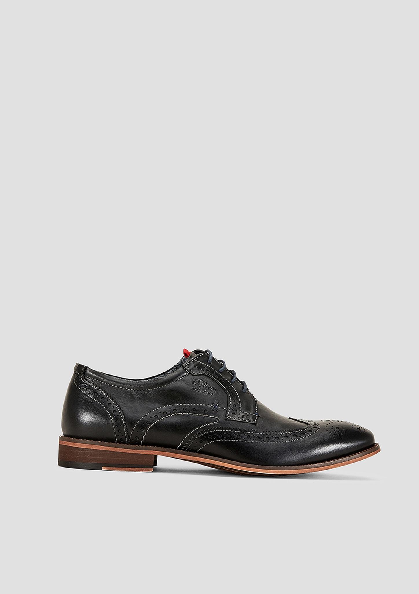 Schnürer | Schuhe | Grau/schwarz | Obermaterial aus leder| futter aus textil| decksohle aus leder und textil| laufsohle aus synthetik | s.Oliver