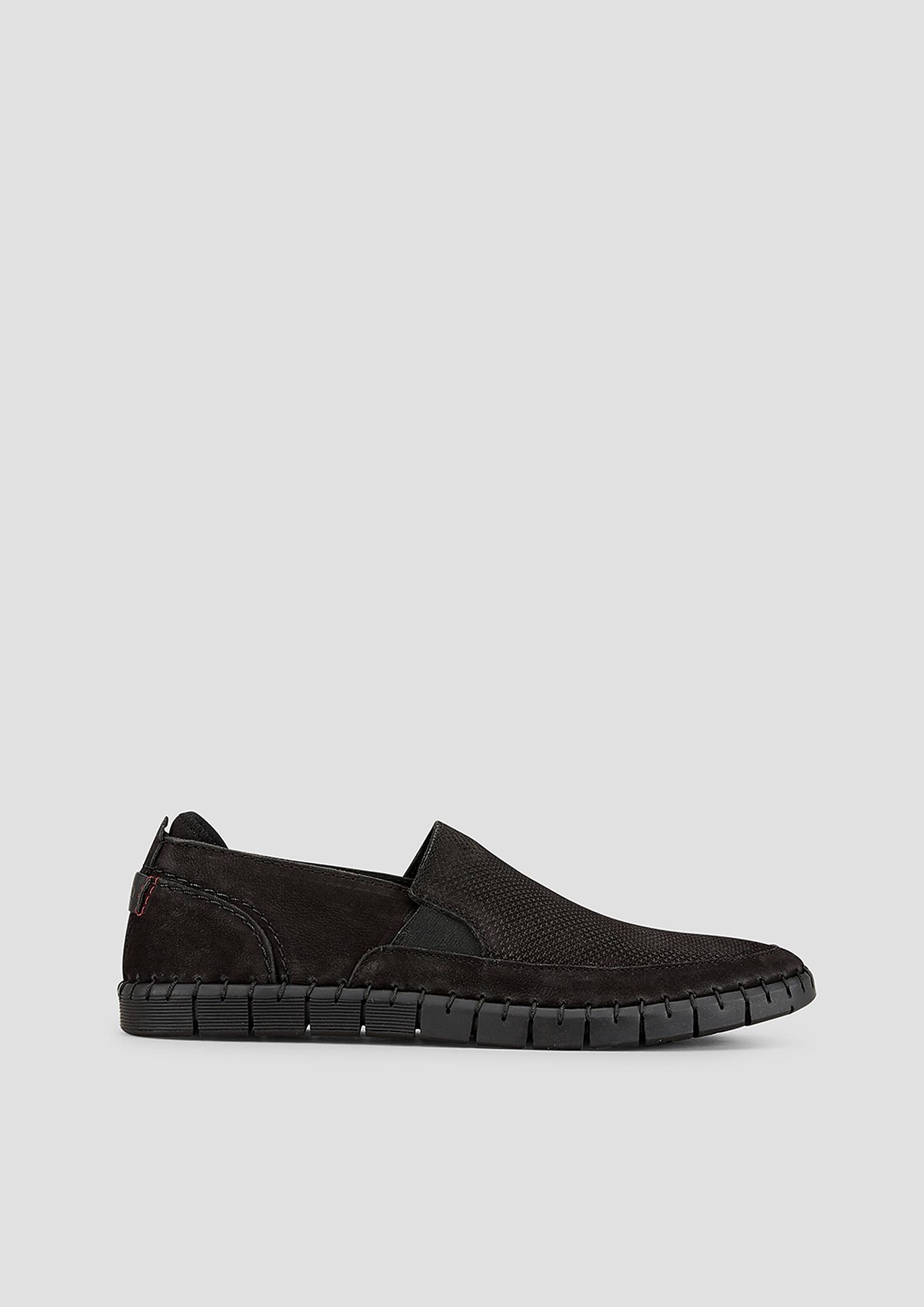 Slipper | Schuhe > Slipper | Grau/schwarz | Obermaterial aus leder und textil| futter und decksohle aus leder und textil| laufsohle aus synthetik | s.Oliver
