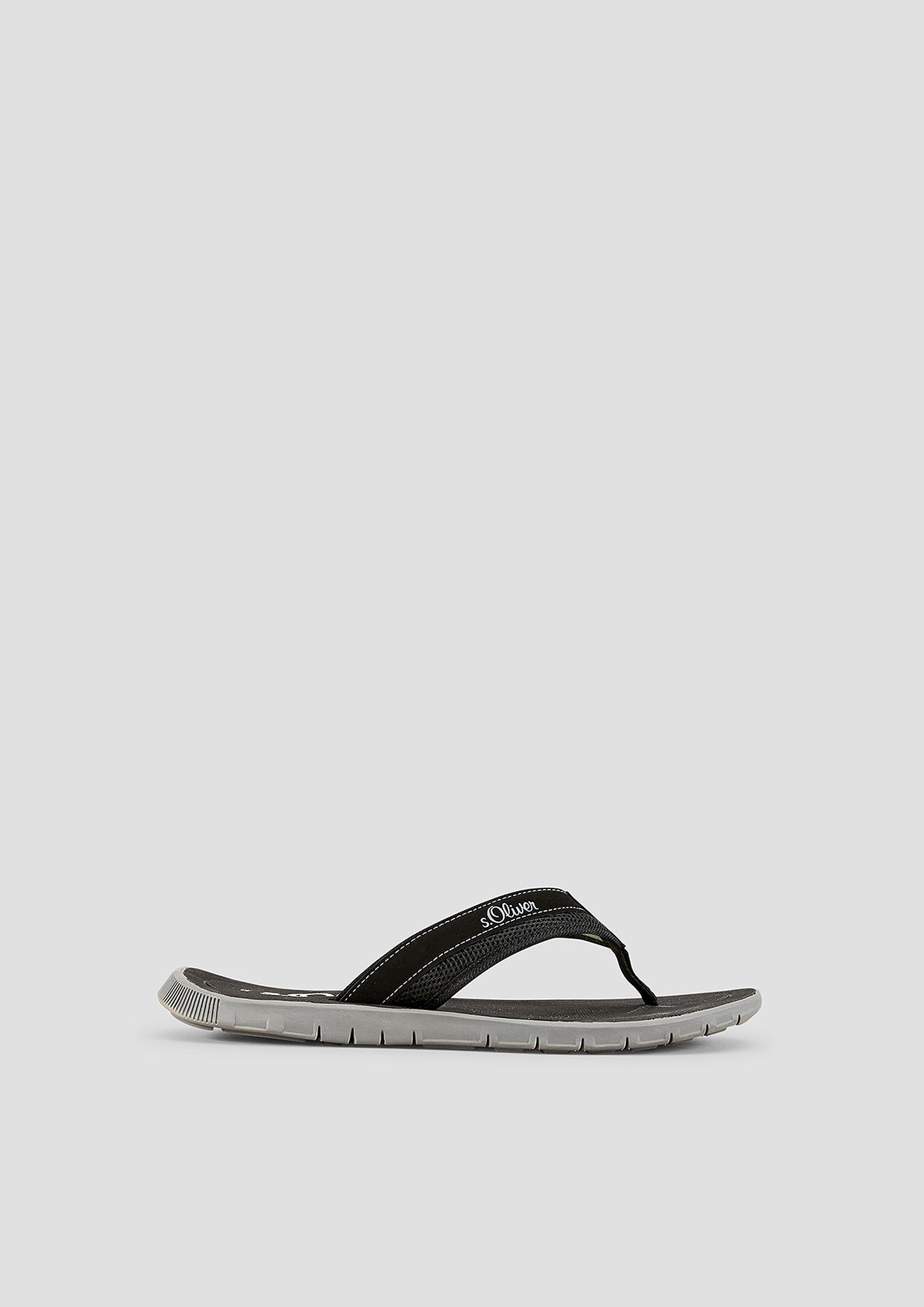 Zehentrenner | Schuhe > Sandalen & Zehentrenner | Grau/schwarz | Obermaterial aus textil und synthetik| futter aus textil| decksohle und laufsohle aus synthetik | s.Oliver