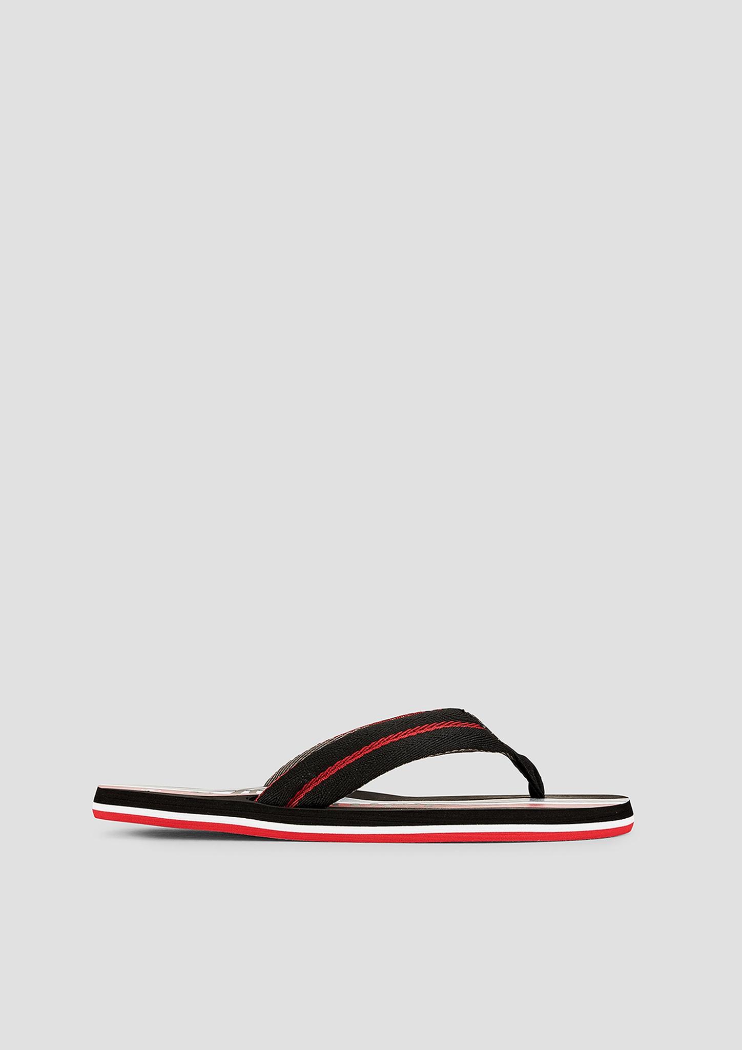 Zehenpantolette   Schuhe > Clogs & Pantoletten > Pantoletten   Grau/schwarz   Obermaterial aus textil  futter aus textil -  innensohle und laufsohle aus synthetik   s.Oliver