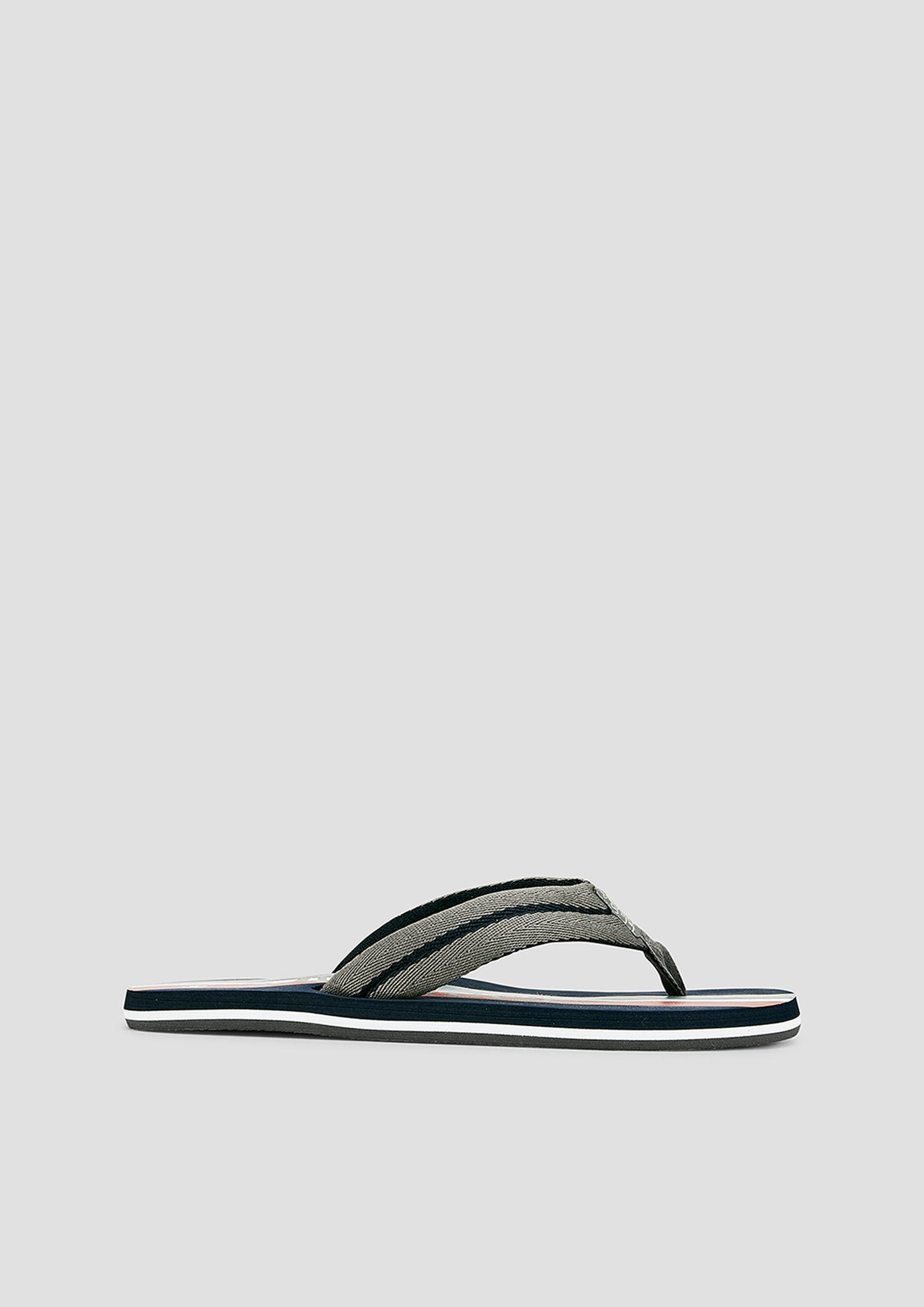 Zehenpantolette | Schuhe > Clogs & Pantoletten | Grau | Obermaterial aus textil| futter aus textil -  innensohle und laufsohle aus synthetik | s.Oliver