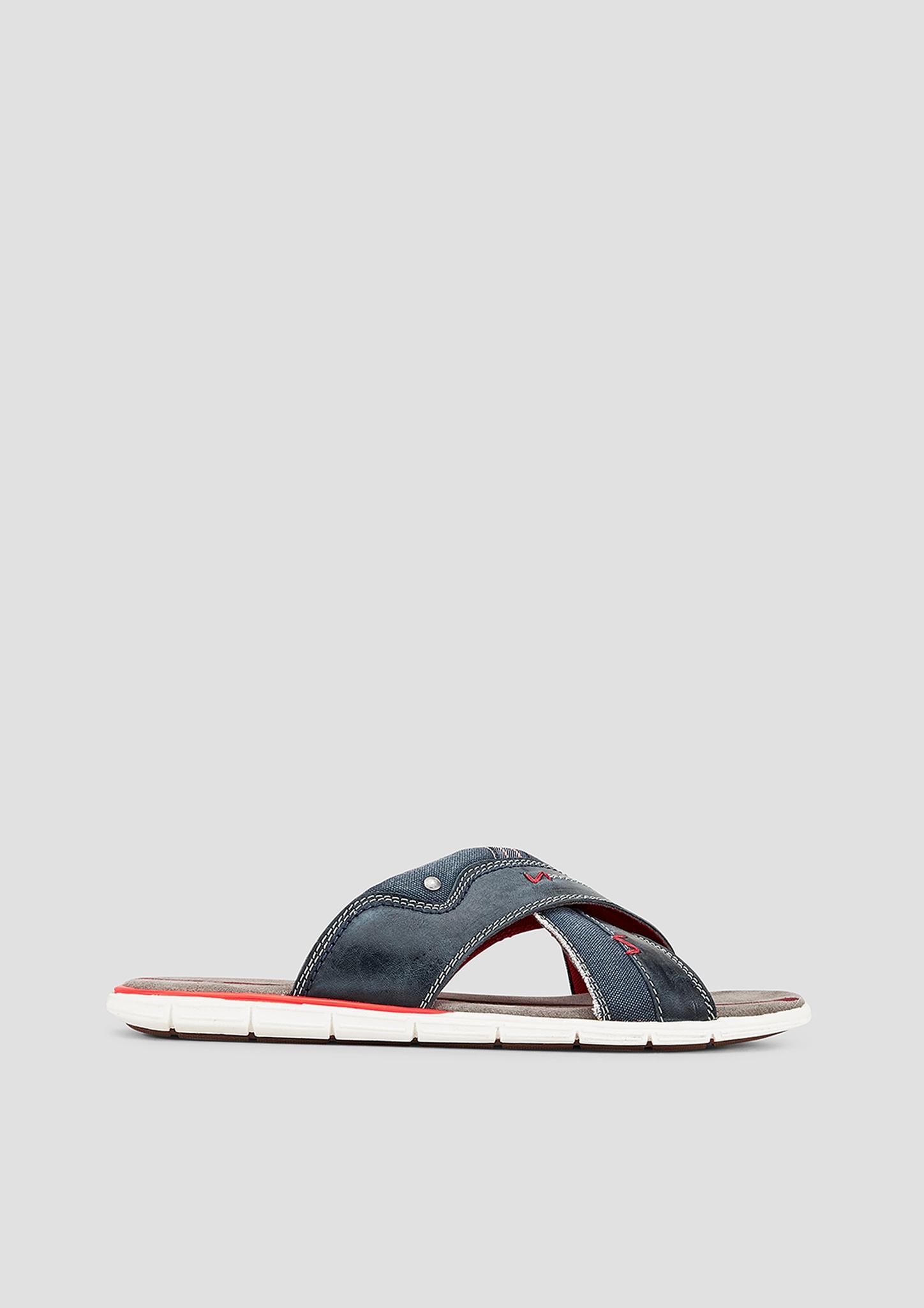 Pantoletten | Schuhe > Clogs & Pantoletten > Pantoletten | Blau | Obermaterial aus echtleder und textil| futter aus textil| decksohle aus echtleder| laufsohle aus synthetik | s.Oliver