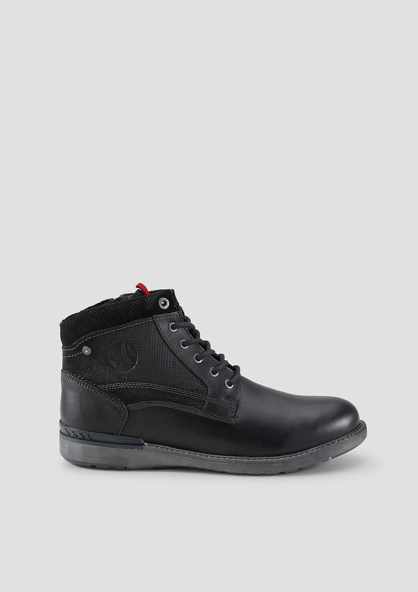 Stiefel   Schuhe   Grau/schwarz   Obermaterial aus leder  futter aus textil  decksohle aus textil und leder  laufsohle aus synthetik   s.Oliver