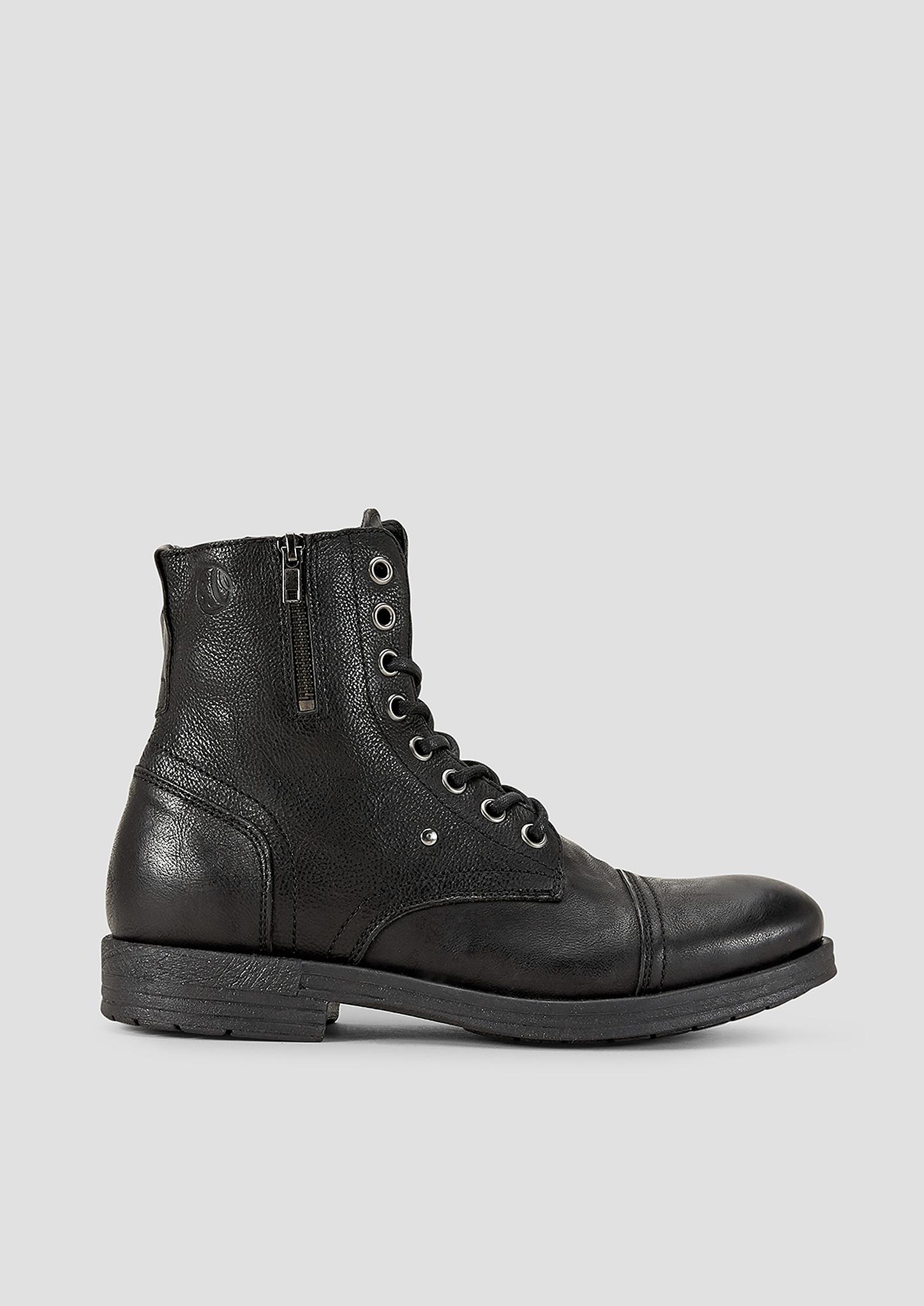Lederboots | Schuhe > Boots > Boots | Grau/schwarz | Obermaterial aus echtleder| futter aus textil und synthetik| decksohle aus textil| laufsohle aus synthetik | s.Oliver