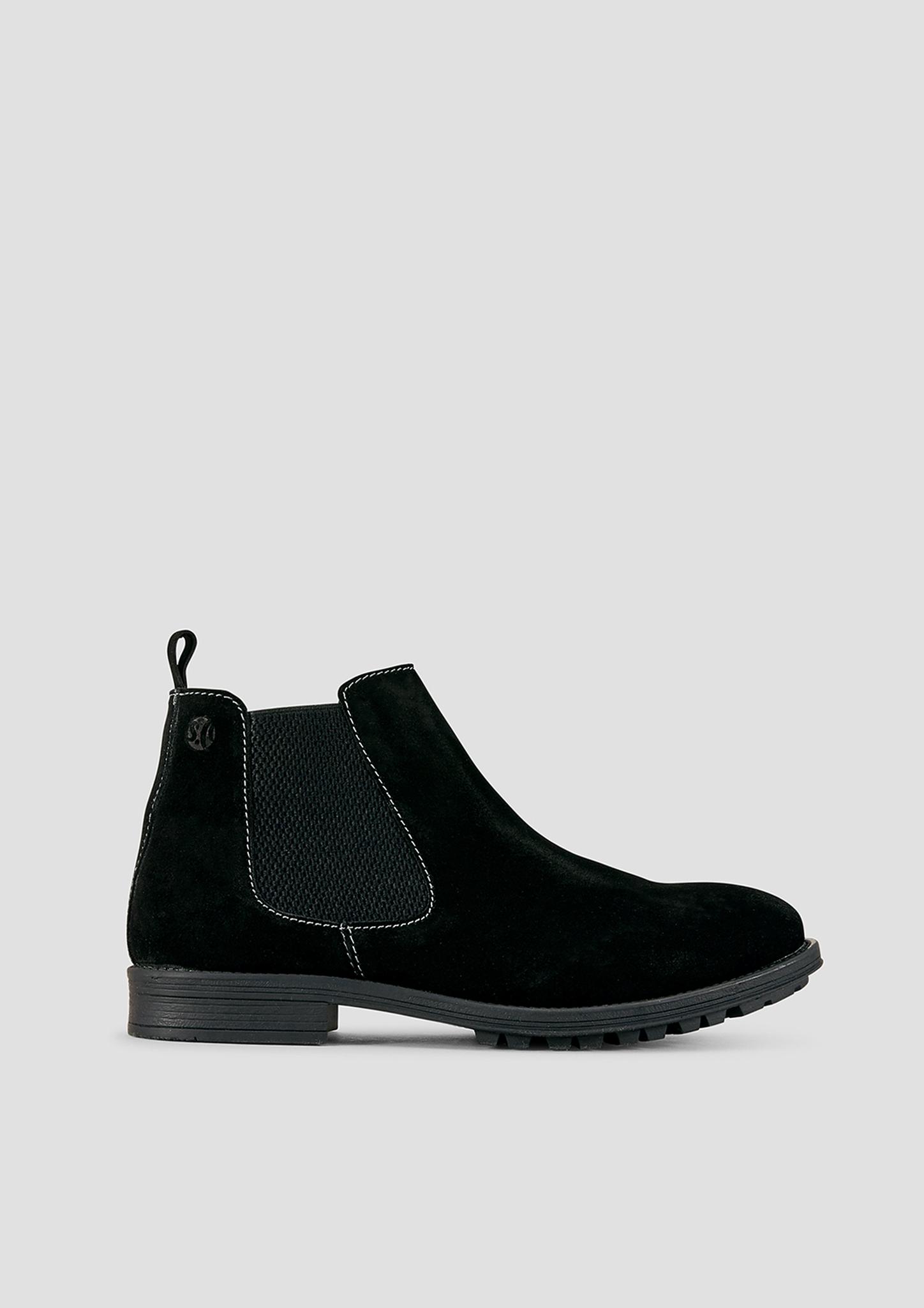 Stiefel | Schuhe > Boots > Stiefel | Schwarz | Obermaterial aus leder| futter aus textil und leder| decksohle aus leder| laufsohle aus synthetik | s.Oliver