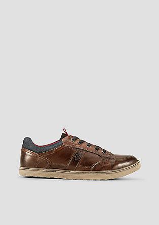 Leder-Sneaker im Vintage-Look