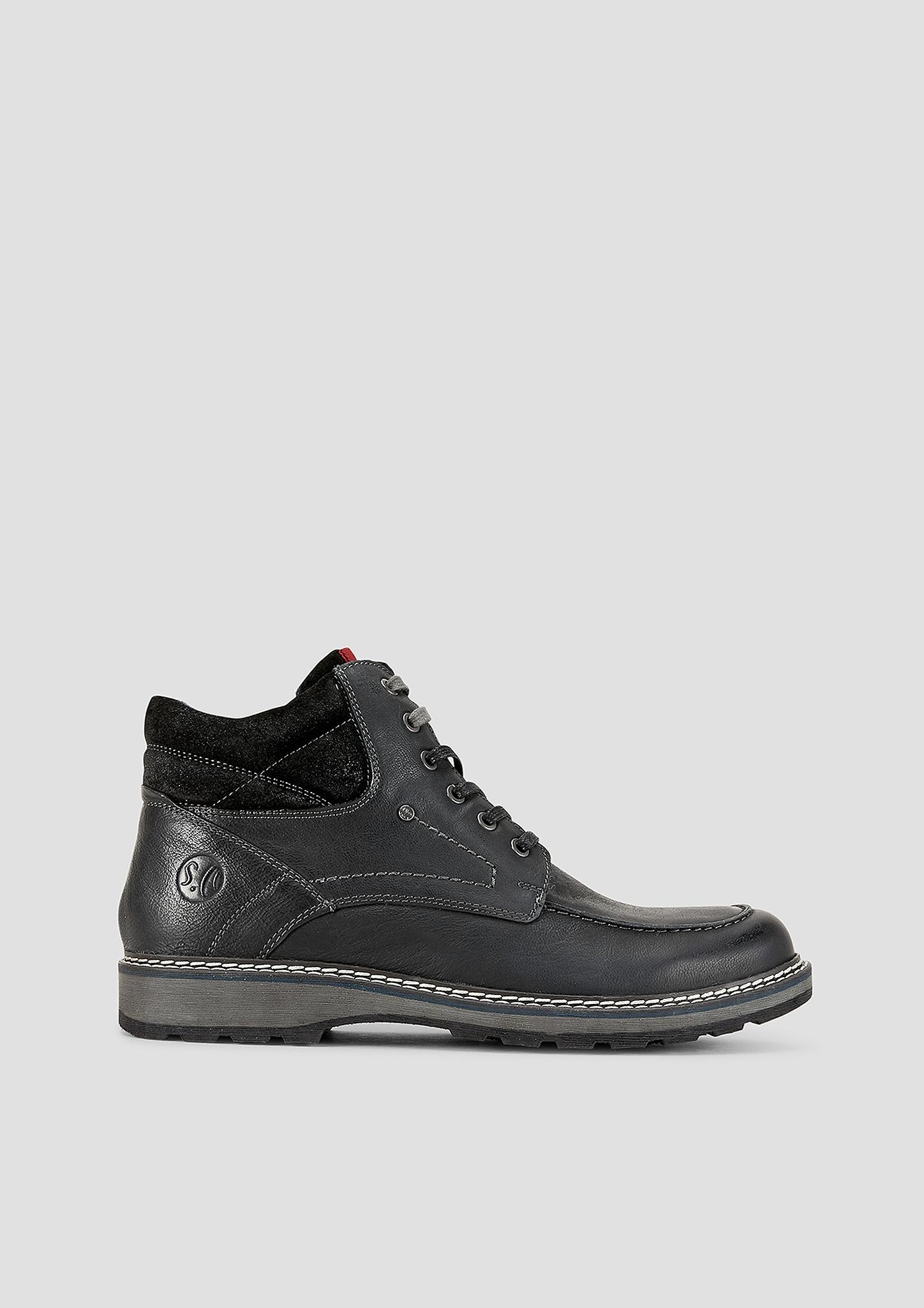 Stiefel | Schuhe > Boots | Schwarz | Obermaterial aus leder| futter aus textil| decksohle aus leder und textil| laufsohle aus synthetik | s.Oliver
